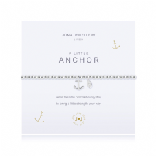 Joma Jewellery A Little ANCHOR Silver Plated Beaded Bracelet